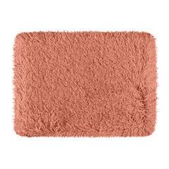 Ozdobny dywanik z błyszcząca nicią koralowy 60x90 cm - 60 X 90 cm - koralowy 2