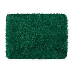 Ozdobny dywanik z błyszcząca nicią zielony 50x70 cm - 50 X 70 cm - ciemnozielony 2