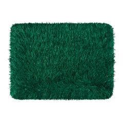 Ozdobny dywanik z błyszcząca nicią zielony 60x90 cm - 60 X 90 cm - ciemno zielony 2
