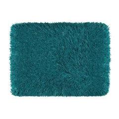 Ozdobny dywanik z błyszcząca nicią turkusowy 60x90 cm - 60 X 90 cm - turkusowy 2