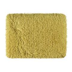 Ozdobny dywanik z błyszcząca nicią musztardowy 50x70 cm - 50x70 - Musztardowy 2