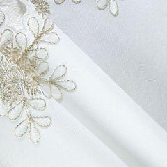 Biały haftowany bieżnik z płatkami śniegu 40x140 cm - 40 X 140 cm - biały 4