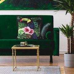 Kolorowa poszewka z motywem egzotycznym 45x45 cm - 45x45 - Czarny / Zielony 3