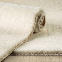Gładki dywanik łazienkowy kremowe futerko 50x70 cm - 50x70 - Kremowy 2