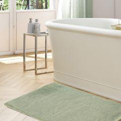 Gładki dywanik łazienkowy miętowe futerko 50x70 cm - 50 x 70 cm - Miętowy 3