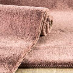 Gładki dywanik łazienkowy różowe futerko 60x90 cm - 60 x 90 cm - c.różowy 4