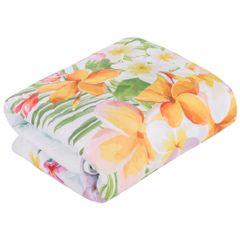 FLAMINGI narzuta na łóżko od Design91 200x220 cm - 200x220 - niebieski, miętowy, zielony, żółty, różowy 3