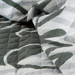 Modna narzuta z motywem napisów 170x210 cm - 170x210 - Biały / Srebrny / Grafitowy 6