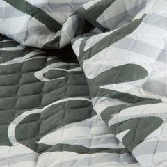 Modna narzuta z motywem napisów 170x210 cm - 170 X 210 cm - biały/srebrny/grafitowy 6