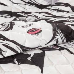 Młodzieżowa narzuta z modną grafiką 170x210 cm - 170 X 210 cm - biały/czarny/różowy 7