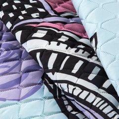 Lekka narzuta z kolorową młodzieżową grafiką 170x210 cm  - 170 X 210 cm - biały/czarny/błękitny/fioleto 7