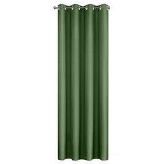 Zasłona gładka CIEMNOZIELONA przelotki 140x250 cm - 140x250 - Zielony 8