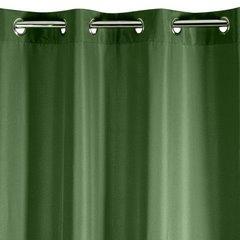Zasłona gładka CIEMNOZIELONA przelotki 140x250 cm - 140x250 - Zielony 2
