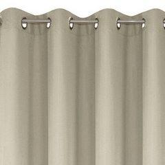 Zasłona gładka beżowa przelotki 140x250 cm - 140 X 250 cm - cappucino 4
