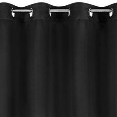 Czarna zasłona zaciemniająca 135x250 na przelotkach - 140 X 250 cm - czarny 2
