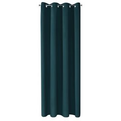 Gładka zasłona zaciemniająca petrol 135x250 przelotki - 135x250 - turkusowy 7