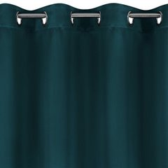 Gładka zasłona zaciemniająca petrol 135x250 przelotki - 140 X 250 cm - ciemny turkusowy 2