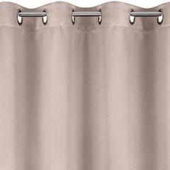 Zasłona zaciemniająca pudrowa 135x250 na przelotkach - 140 X 250 cm - pudrowy 2