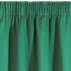 Ciemnozielona zasłona zaciemniająca 135x270 na taśmie - 135x270 - zielony 3