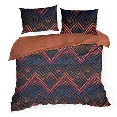 Komplet pościeli bawełnianej diego 160x200 2szt 70x80 styl nowoczesny - 160 X 200 cm, 2 szt. 70 X 80 cm - wielokolorowy 2