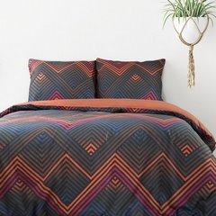 Komplet pościeli bawełnianej DIEGO 200x220 2szt 70x80 styl nowoczesny - 220x200 - czarny, granatowy, pomarańczowy, fioletowy, czerwony 2
