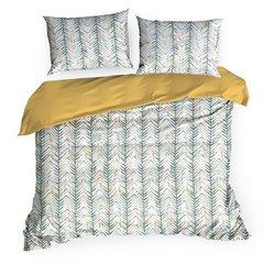 Komplet pościeli bawełnianej aura 200x220 2szt 70x80 styl nowoczesny - 220 X 200 cm, 2 szt. 70 X 80 cm - wielokolorowy 2