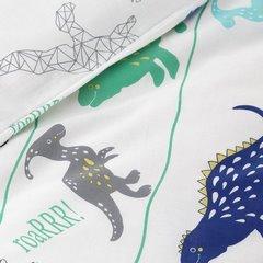 Komplet pościeli bawełnianej dino 160x200 2szt 70x80 dziecięca pościel w dinozaury - 160 X 200 cm, 2 szt. 70 X 80 cm - wielokolorowy 4
