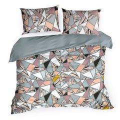 Komplet pościeli bawełnianej marble 160x200 2szt 70x80 styl nowoczesny - 160 X 200 cm, 2 szt. 70 X 80 cm - wielokolorowy 2