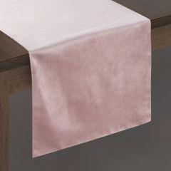 Pudrowy różowy bieżnik z welwetu do jadalni 35x140 cm - 35 X 140 cm - pudrowy 2