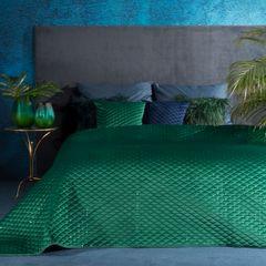 Zielona NARZUTA Z WELWETU z cekinami 170x210 cm - 170x210 - zielony 1
