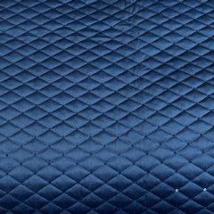 Granatowe NARZUTA Z WELWETU z cekinami 170x210 cm - 170x210 - Granatowy 3