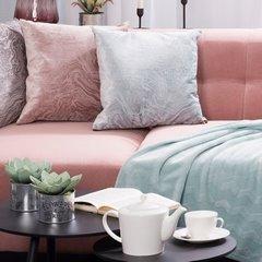Różowa POSZEWKA WELWETOWA z efektem marmuru 42x42 xm - 42x42 - Różowy 3