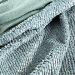 Miętowy koc z akcentami srebrnych pasków 70x160 - 70x160 - Różowy 5