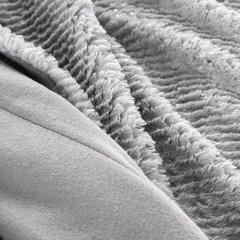 Popielaty koc z akcentami srebrnych pasków 70x160 - 70x160 - Różowy 7