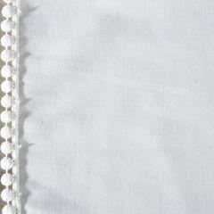 Biały bieżnik z pomponami kolekcja Premium 35x140 cm - 35 X 140 cm - biały 3