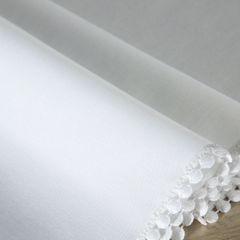 Biały bieżnik z pomponami kolekcja Premium 35x140 cm - 35 X 140 cm - biały 4
