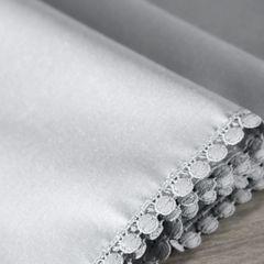 Srebrny bieżnik z pomponami kolekcja Premium 35x140 cm - 35 X 140 cm - srebrny 4