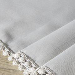 Srebrny bieżnik z pomponami kolekcja Premium 35x140 cm - 35 X 140 cm - srebrny 5