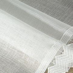 Biały bieżnik z kolekcji Premium z koronką 35x140 cm - 35 X 140 cm - biały 4