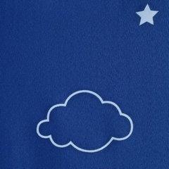 Świecąca dziecięca zasłona motyw chmurek 140x250 na przelotkach - 140 X 250 cm - granatowy 3
