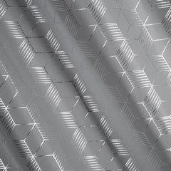 Zasłony Oli z geometrycznym wzorem srebrne na przelotkach 140x250cm - 140 X 250 cm - stalowy/srebrny 2