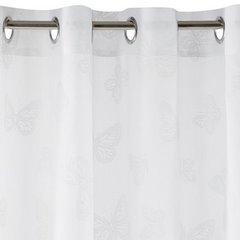 Zasłona biała w motyle na przelotkach 140x250cm - 140 X 250 cm - biały 7