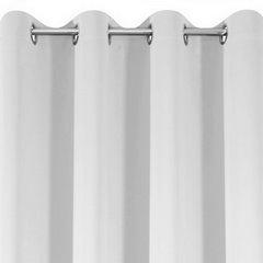 PARISA BIAŁA ZASŁONA ZACIEMNIAJĄCA MATOWA GŁADKA NA PRZELOTKACH 135x250cm DESIGN91 - 140 X 250 cm - biały 6