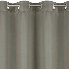 Zasłona zaciemniająca na przelotkach 135x250 cappuccino - 135 X 250 cm - ciemnobeżowy 5