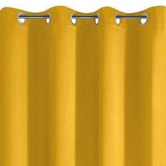 PARISA MUSZTARDOWA ZASŁONA ZACIEMNIAJĄCA MATOWA GŁADKA NA PRZELOTKACH 135x250cm DESIGN91 - 140 X 250 cm - musztardowy 6