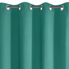 Gładka turkusowa zasłona zaciemniająca 135x250 na przelotkach - 135x250 - Turkusowy 2