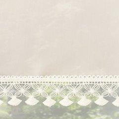 Dekoracja okienna-komplet firan z woalu z gipiurą kremowa 400x145cm - 400 X 145 cm - kremowy 2