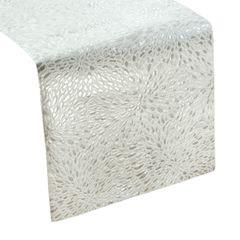 Srebrny BIEŻNIK DO JADALNI czysta bawełna 35x140 cm - 35x140 - Srebrny 1