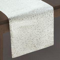 Srebrny bieżnik do jadalni czysta bawełna 35x140 cm - 35 x 140 cm - srebrny 2
