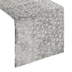 Stalowy szary srebrny bieżnik na stół 35x140 cm - 35 X 140 cm - srebrny 1